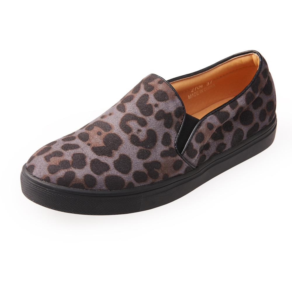 Chichi 時髦帥氣 歐美厚底休閒懶人鞋*灰色