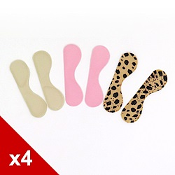 糊塗鞋匠 優質鞋材 F08 超黏矽膠胖胖貼/後跟貼 (4雙/組)