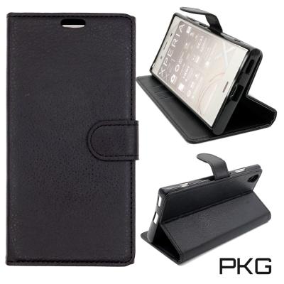 PKG SONY XA1-PLUS 側翻式皮套-經典皮套系列-黑色
