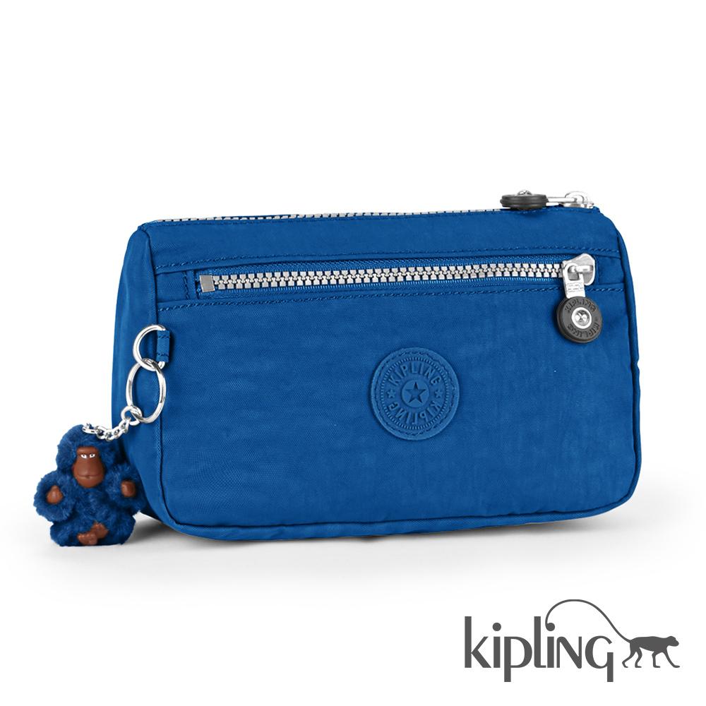 Kipling 零錢包 酷藍素面-小