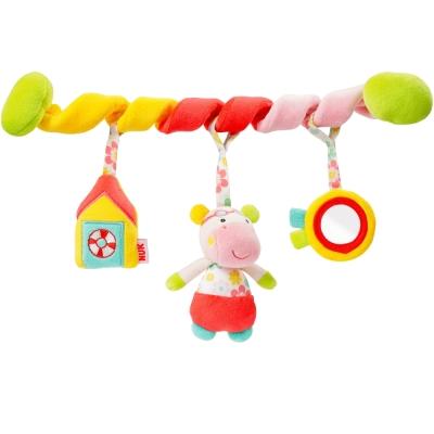 德國NUK絨毛玩具-河馬活動卷卷裝飾組