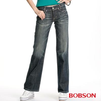 BOBSON 女款寬褲管喇叭褲