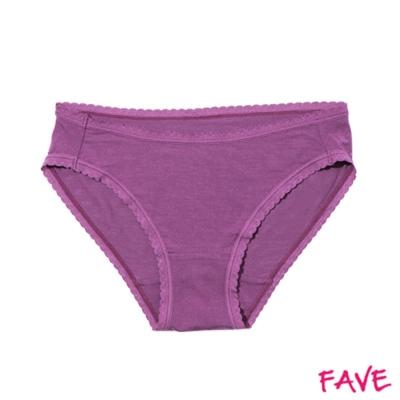 內褲 超細莫代爾中腰小褲-玫紫 (M~XL)