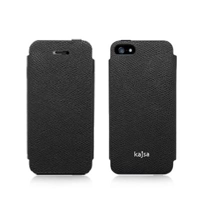 Kajsa Neo-Classic iPhone 5/5S/SE 牛皮側翻皮套-荔枝紋