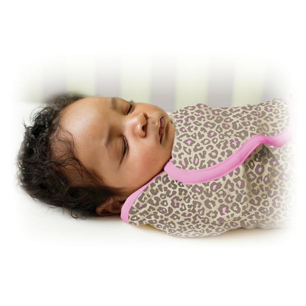 美國 Summer Infant 嬰兒包巾 懶人包巾薄款 -純棉L 粉紅豹