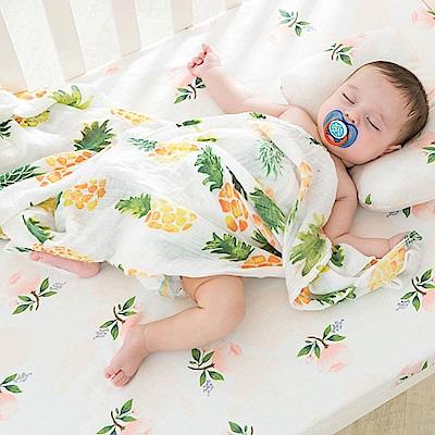 Baby unicorn 手繪鳳梨竹纖維嬰兒包巾