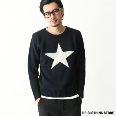 圓領毛衣美式風格 ZIP日本男裝
