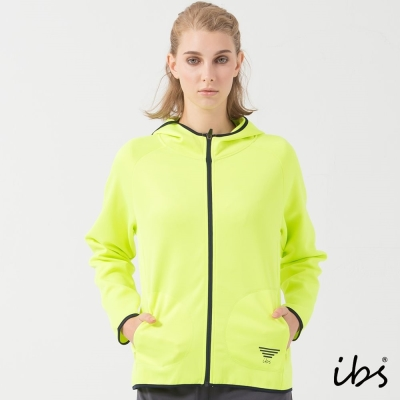 福利品 ibs軟殼吸排連帽外套(螢光綠-女)