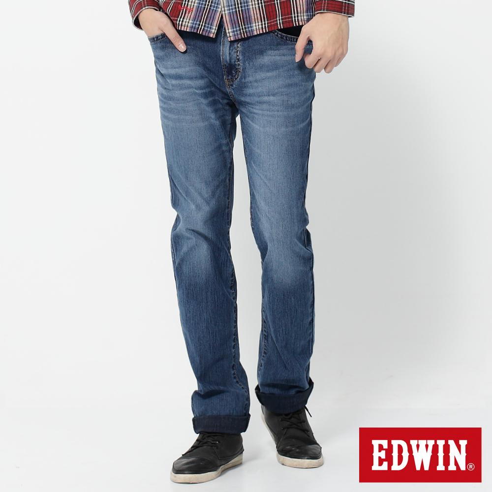 EDWIN 中直筒 迦績褲JERSEYS針織牛仔褲-男-石洗綠