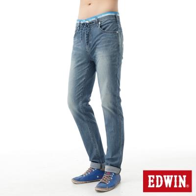 EDWIN-AB褲-迦績褲JERSEYS涼感牛仔褲-男-石洗藍