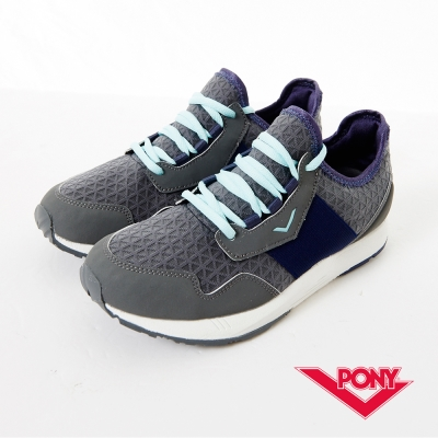 【PONY】SLIGHTLY系列-青春樣色舒適休閒鞋-女性-炭灰