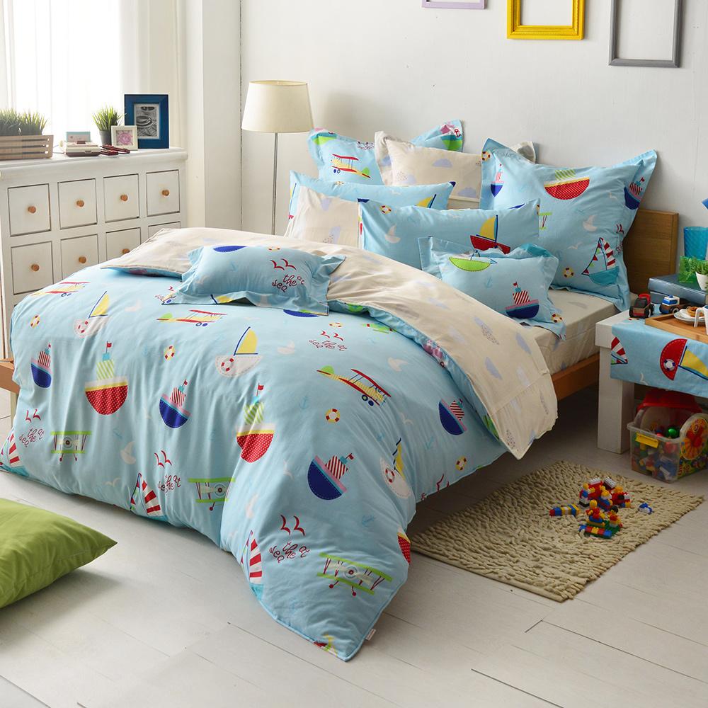 義大利Fancy Belle 海洋夢想 雙人純棉床包枕套組