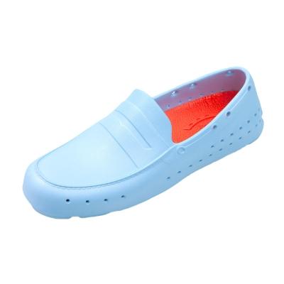 (男/女)Ponic&Co美國加州環保防水洞洞懶人鞋-粉藍色