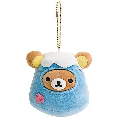 拉拉熊開運幸福系列毛絨公仔吊飾。富士山San-X