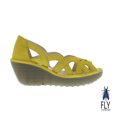 Fly-London-女-Yad-鏤空真皮造型楔型