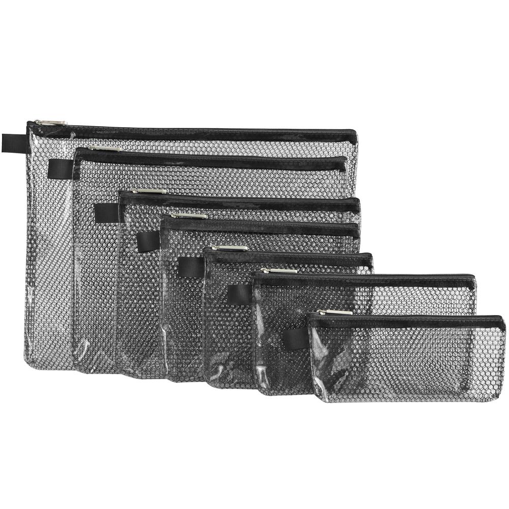 TRAVELON 蜂巢紋收納袋(黑7入)