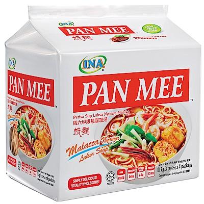 INA PAN MEE 辣味咖哩湯麵-馬六甲娘惹咖哩湯板麵(112gx4入)
