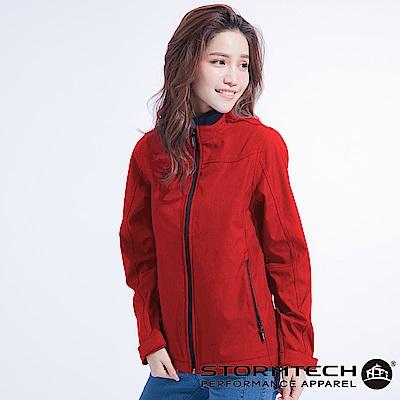 【加拿大STORMTECH】ES-1W水洗感防潑透氣機能外套-女-紅