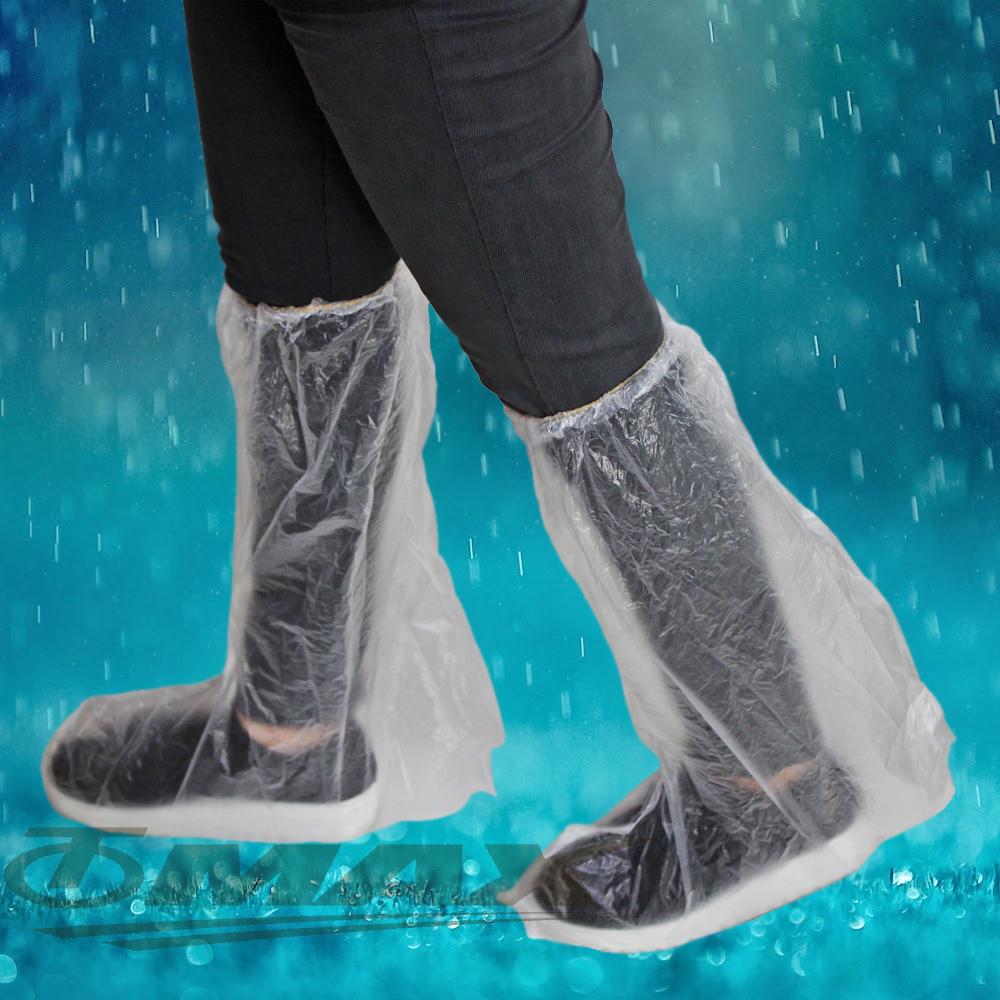 透明通用型雨鞋套-12雙(6包)-快