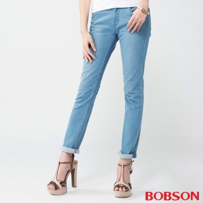 BOBSON   女款膠原蛋白美肌褲-淺藍