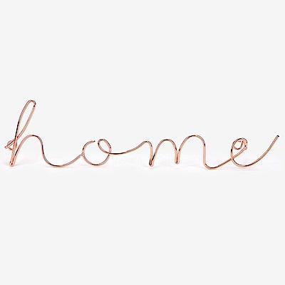 Dailylike 玫瑰金字母造型壁面掛鉤-06 Home