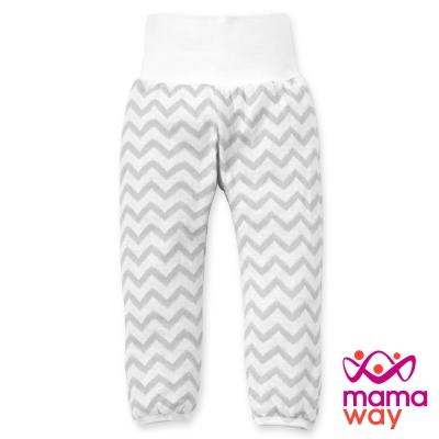 新生兒肚衣 新生兒服 水波紋新生兒內著褲(淺灰) Mamaway