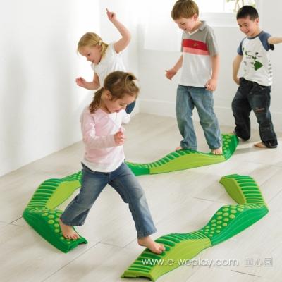 Weplay身體潛能開發系列【創意互動】波浪觸覺步道(綠光森林)
