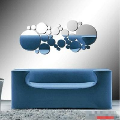 Pond's 無痕壁貼 圓的藝術 3D立體壓克力鏡面貼 大小共28個