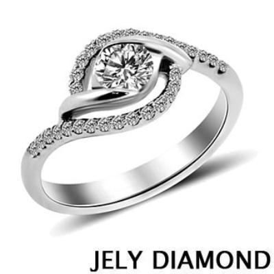 JELY Celebration 0.30克拉H&A八心八箭美鑽戒指