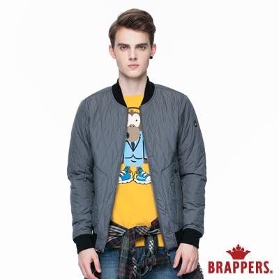 BRAPPERS 男款 質感菱形壓格舖棉飛行外套-深灰