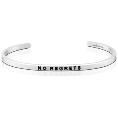 MANTRABAND No Regrets 銀色手環 這是我的人生 不許遺憾