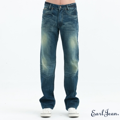Earl Jean 立體貓咪中腰合身直筒褲
