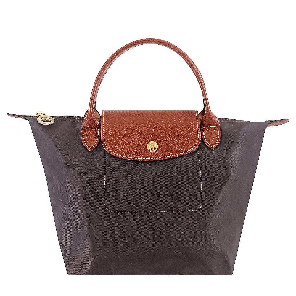 Longchamp 短帶折疊水餃包(鐵灰色/小)LONGCHAMP