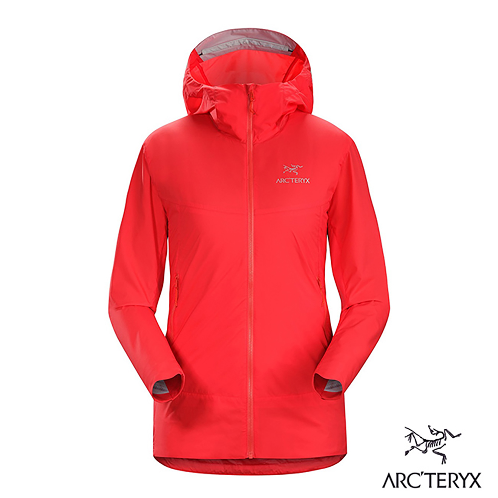 Arcteryx 女 Atom SL 化纖保暖連帽外套 亮紅