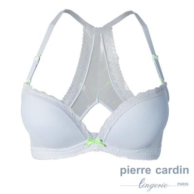 pierre cardin 皮爾卡登花飾系列 厚墊B罩 內衣(淺藍)
