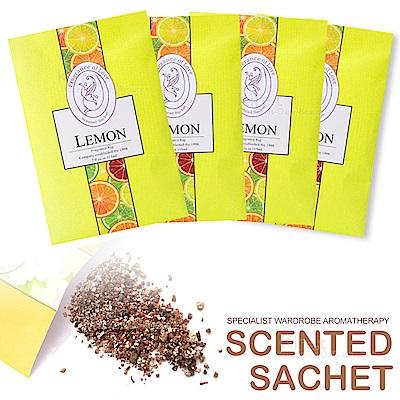 【超值4入】kiret 可掛式香氛 香包 香薰袋-檸檬款-衣櫃防黴防蟲除臭
