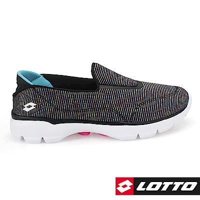 LOTTO 義大利 女 EASYWEAR 健走步行鞋 (黑彩蔥)