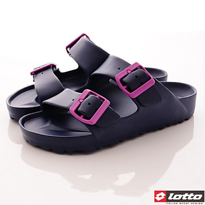 Lotto樂得-馬卡龍輕量拖鞋款-SFI626藍莓果(女段)