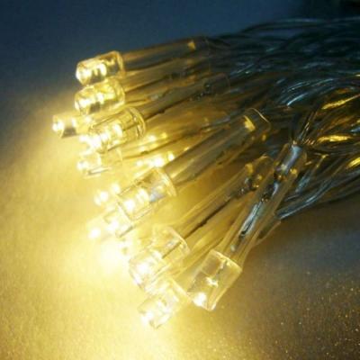 聖誕燈LED燈串50燈電池燈(暖白光/透明線)(高亮度又環保)