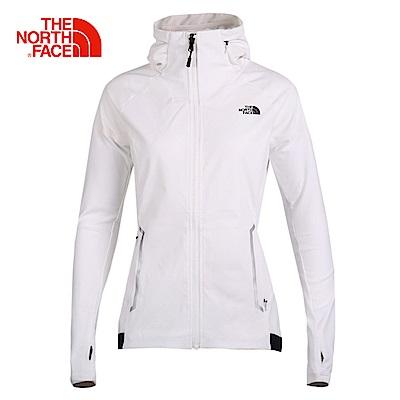 The North Face北面女款白色舒適輕量風衣