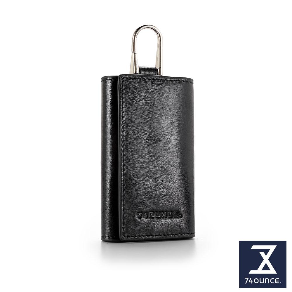 74盎司 Maroon 馬鞍皮鑰匙包[N-568]黑