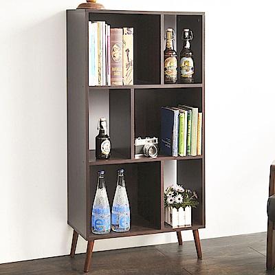 澄境 夏木經典實木腳收納書櫃60X30X123.5cm