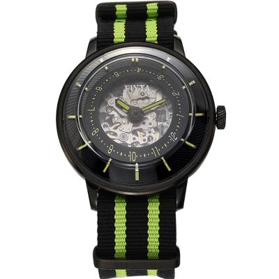 FIYTA飛亞達3D立體讀時機械錶(WGA868002.BBB)-黑色/45mm