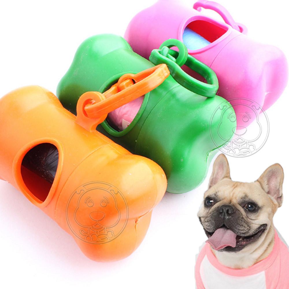 DYY》骨頭型寵物撿便拾便垃圾收納袋(附扣環好攜帶)-顏色隨機出貨
