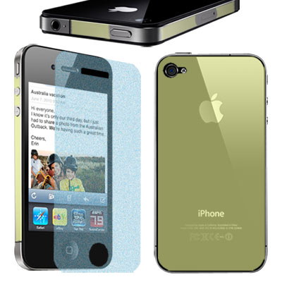 Apple iPhone 4 一指無紋抗刮霧面貼+背膜(贈拭鏡布)