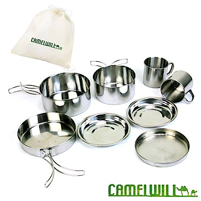 CAMELWILL 雙人不鏽鋼餐具 8 件組   1515020