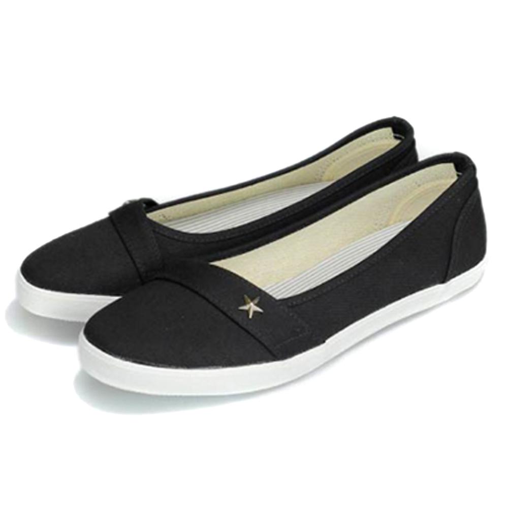 FUFA MIT 星型鉚釘氣質懶人鞋(H74)-黑色