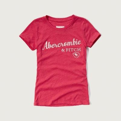 AF a&f Abercrombie & Fitch 女T恤 粉紅色 0022