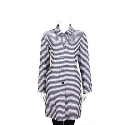 Max Mara-WEEKEND 藍白色條紋排釦外套