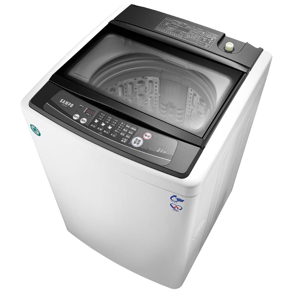 SAMPO聲寶 11KG 定頻直立式洗衣機 ES-H11F(W1)